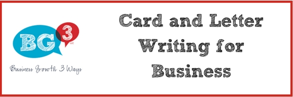 Using cards and letter writing for business