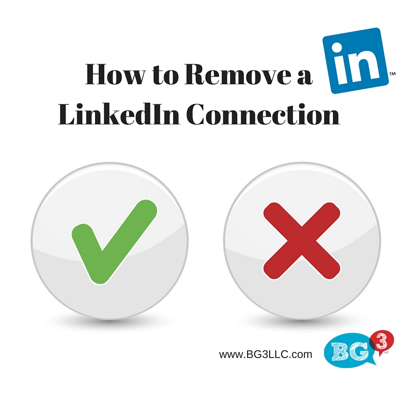 Removing LinkedIn connections