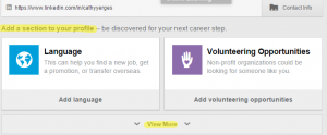 Adding Sections to LinkedIn profile