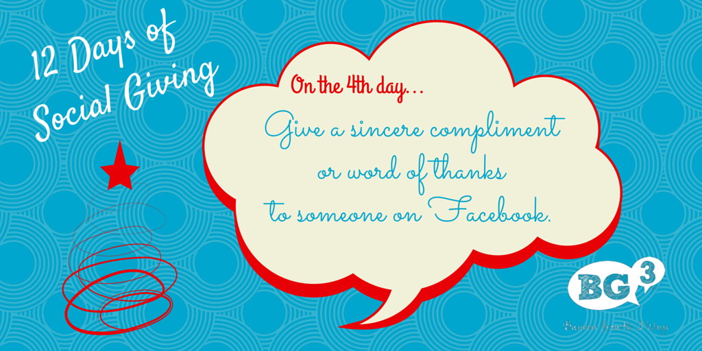 how to thank a compliment on facebook