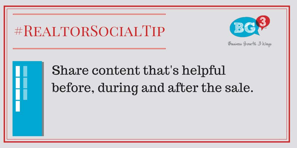 Realtor Social Media Tip
