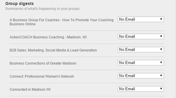 LinkedIn group digests