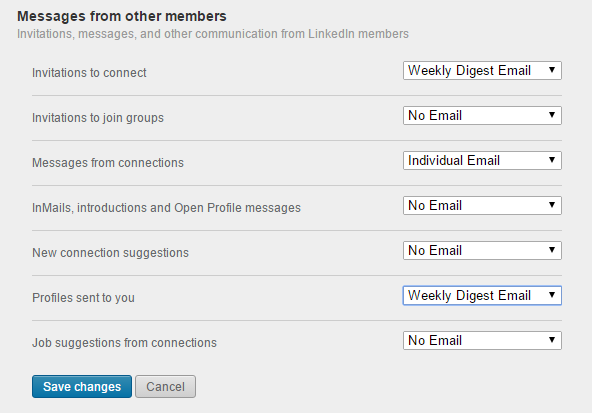 LinkedIn messages from others