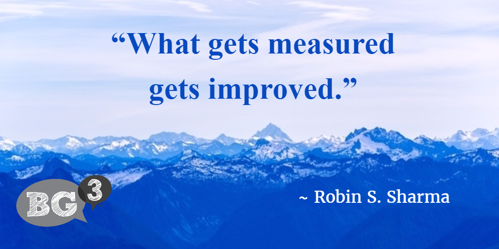 what gets measured gets improved