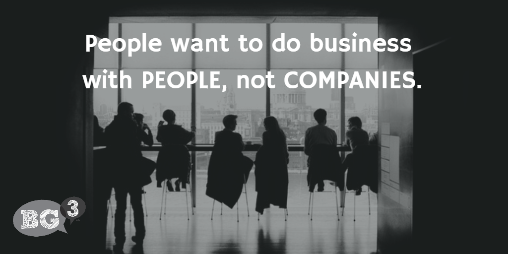 people want to do business with people