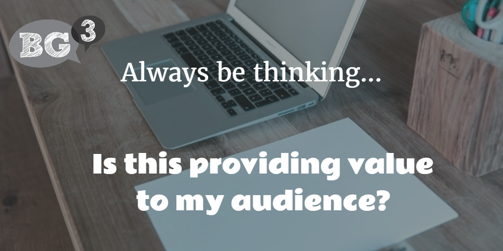 also add value to your audience