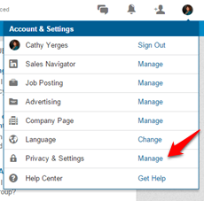 LinkedIn privacy and setting