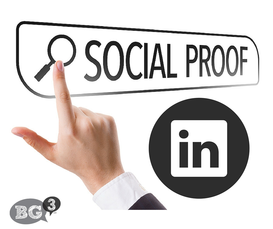 social proof with LinkedIn profile