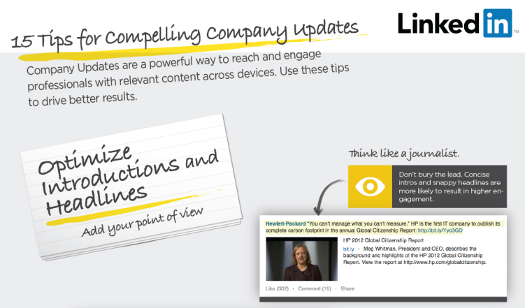 tips for linkedin company page updates